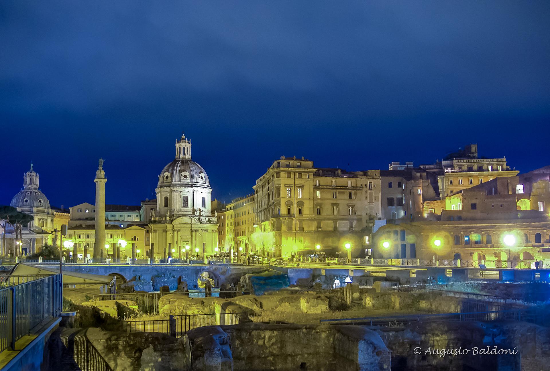 ROMA - Foro di Traiano - Colonna Traiana - Chiesa Santissimo Nome di Maria