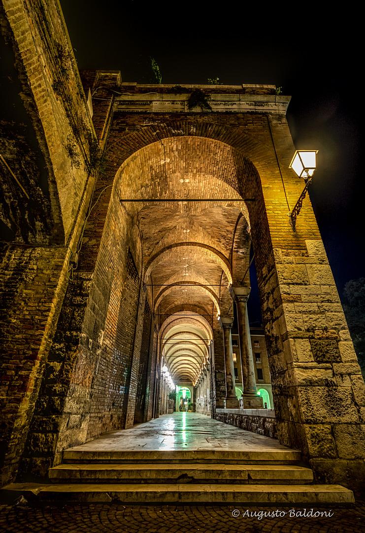 RAVENNA - Porticato di Piazza san Francesco